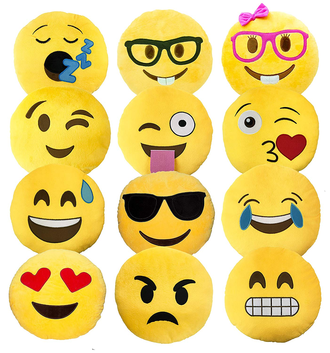 emoji emotion pillows