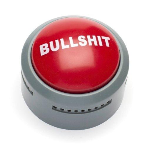 Bullshit Button Gag Gift