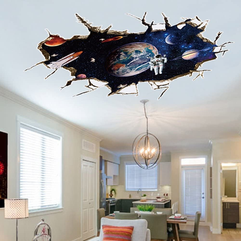 3d wall decals of space