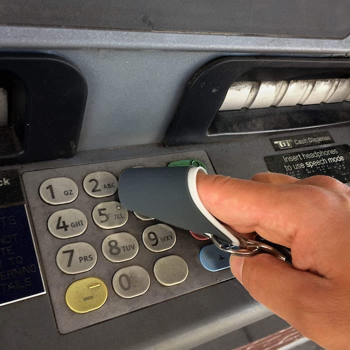 Finger Covers for touching dirty ATM machines