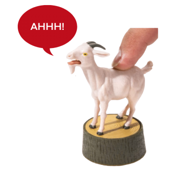 a screaming goat toy