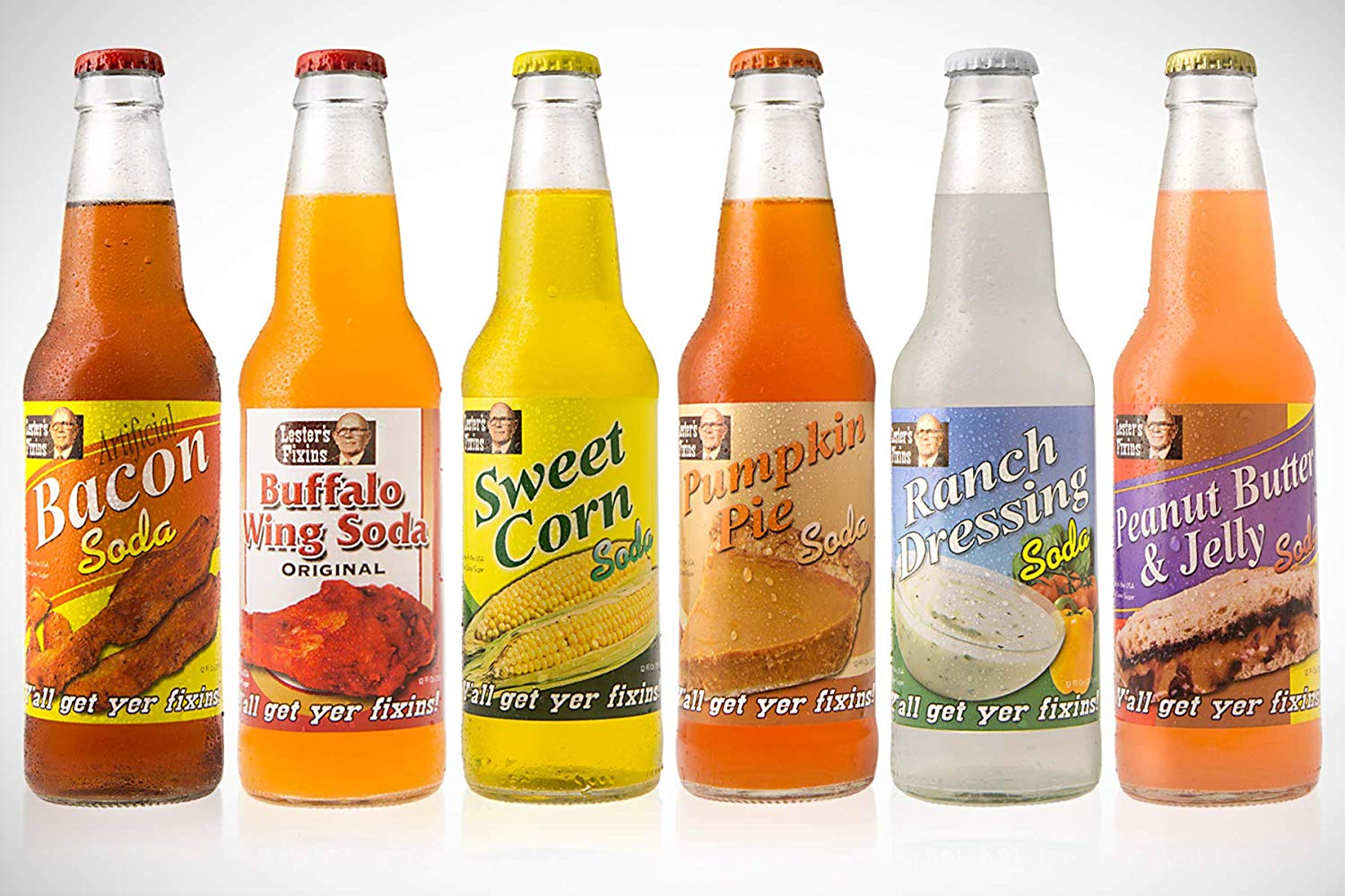 crazy soda flavors assortment - 6 pack