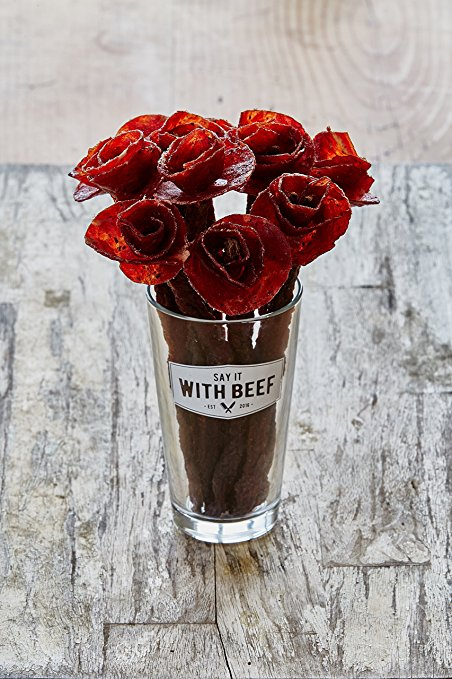 rose bouquet of beef jerky