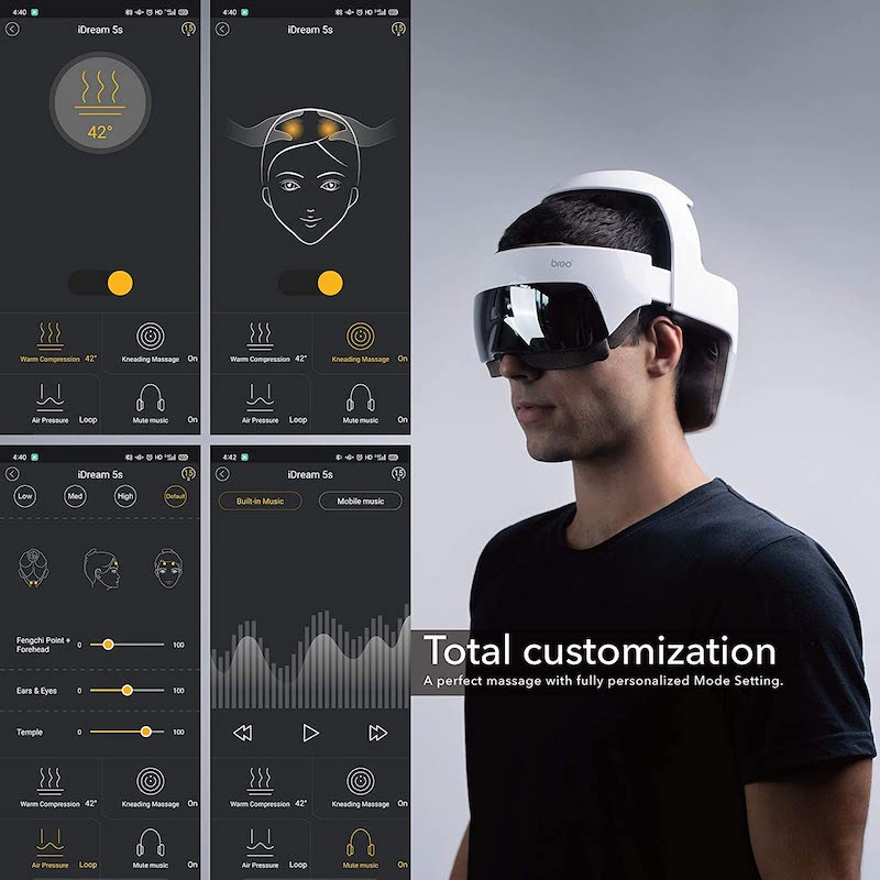 the electric head massager app features