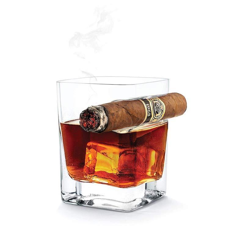 cigar whiskey glass