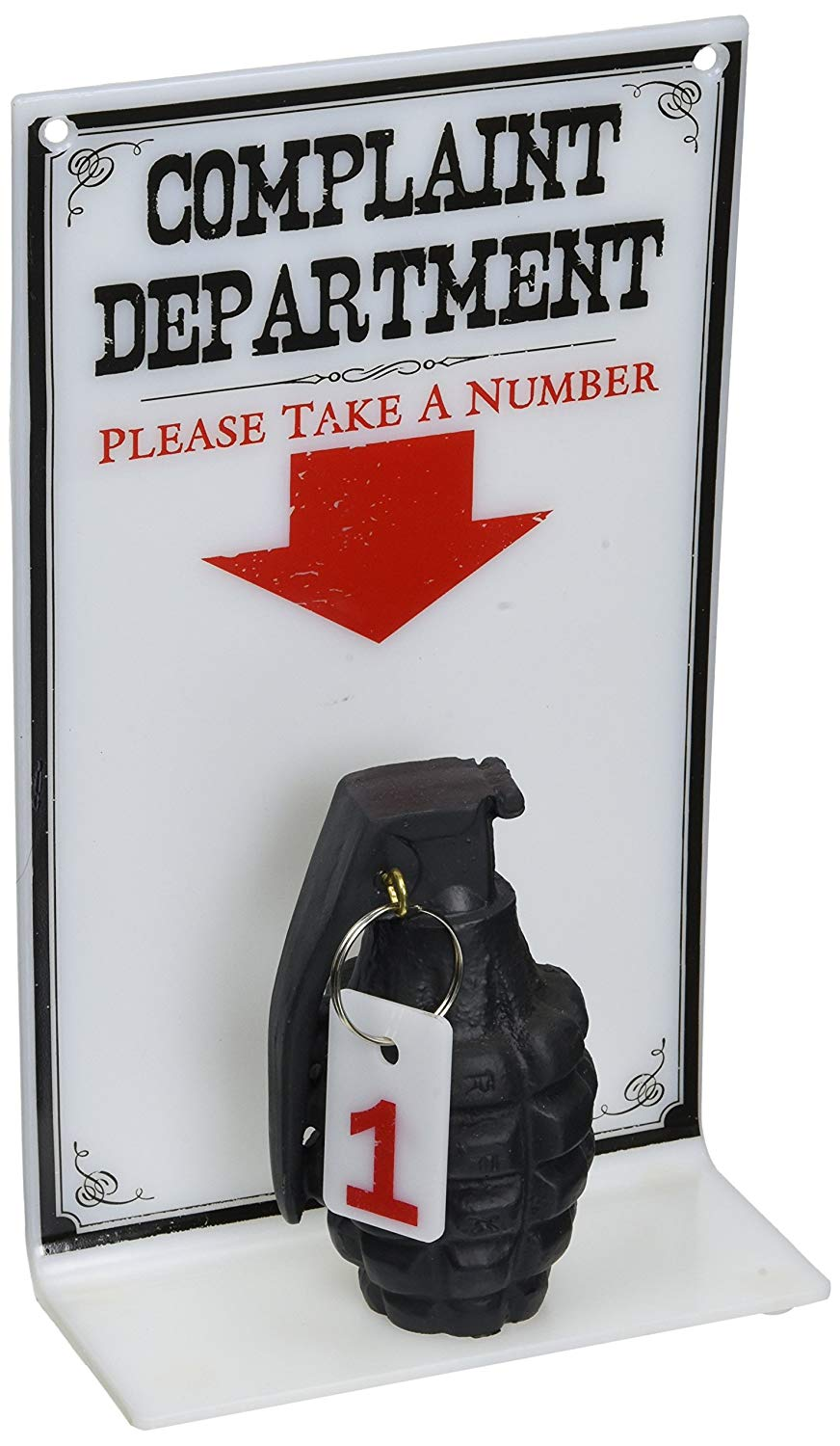 Complaint Department Grenade Sign 10