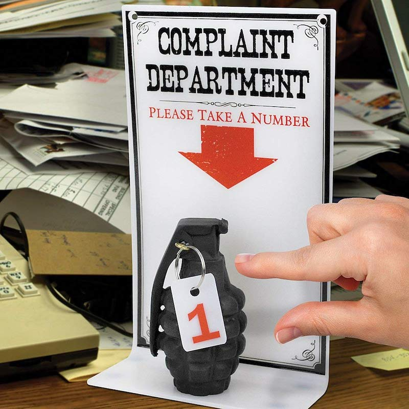 Complaint Department Grenade Sign 8