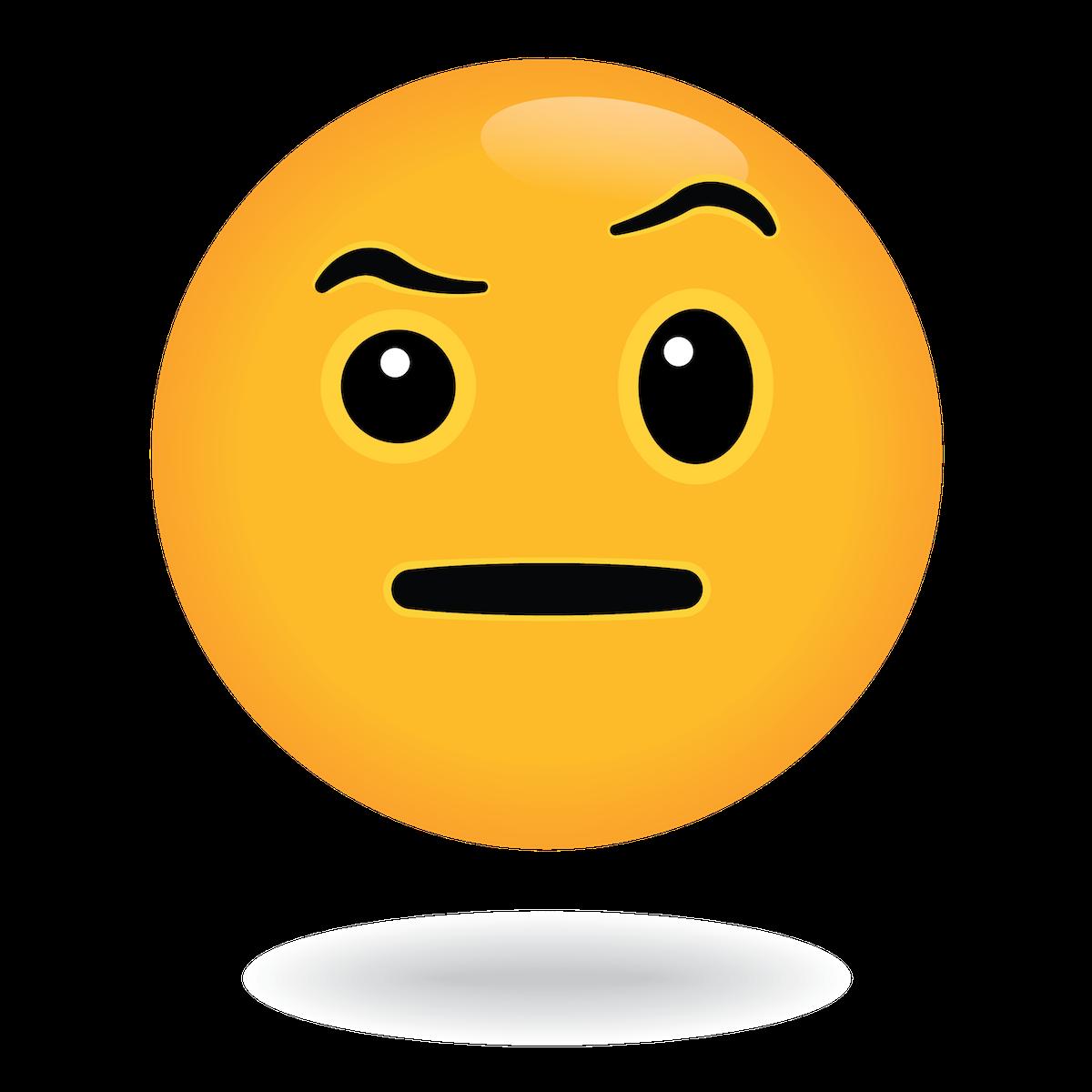 eyebrow emoji by define awesome