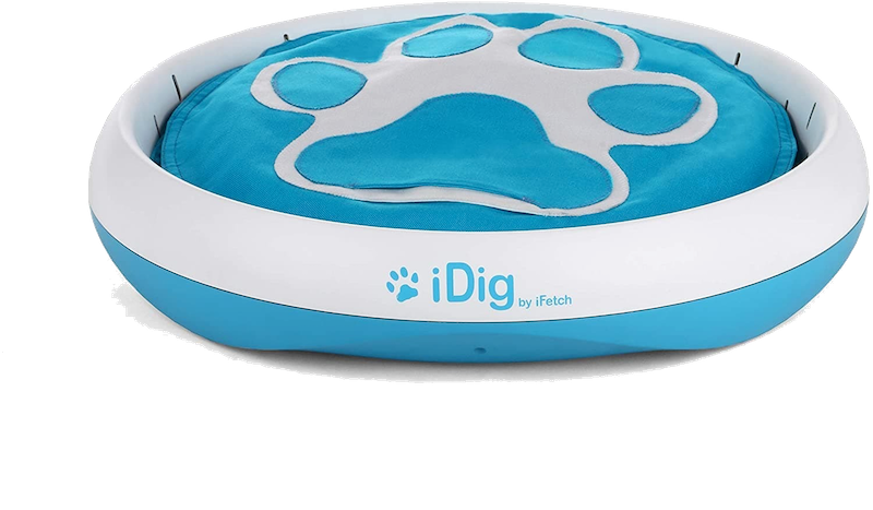 the iDig digging toy for dogs