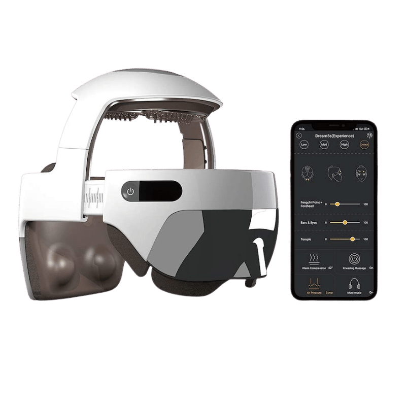 the electric head massage helmet with app