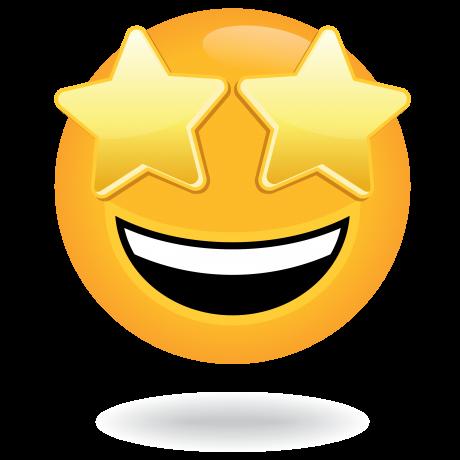 Starry eyed emoji