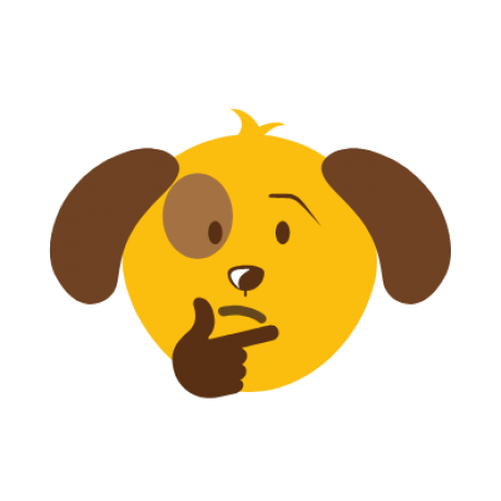 thinking puppy emoji