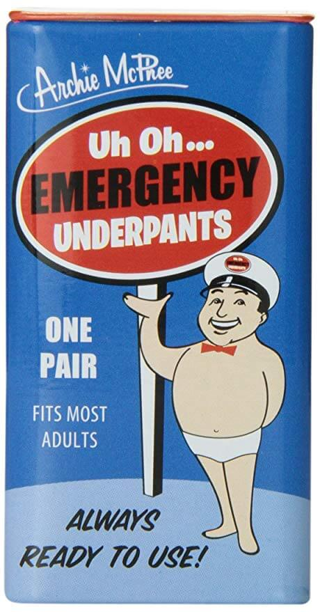 Packaging for emergency underpants
