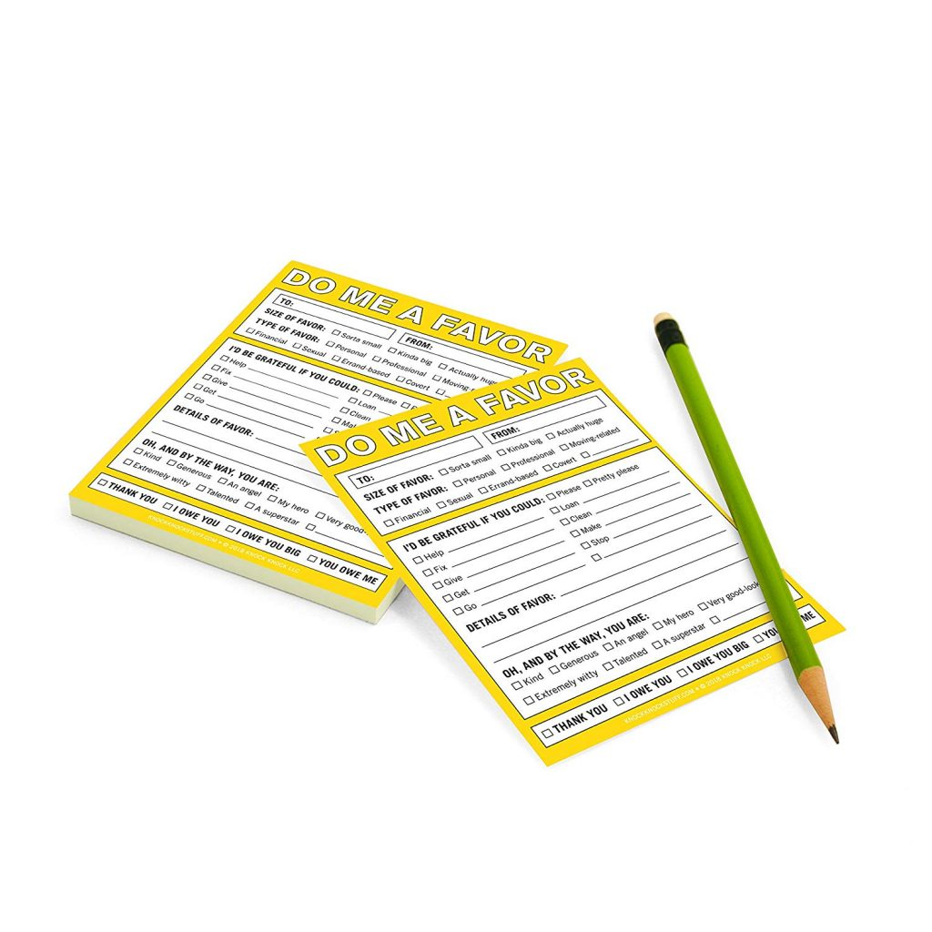 The Do Me A Favor Notepad 3