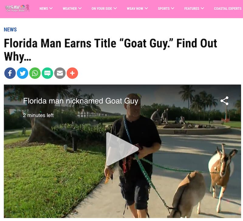 Florida Man is Goat Man