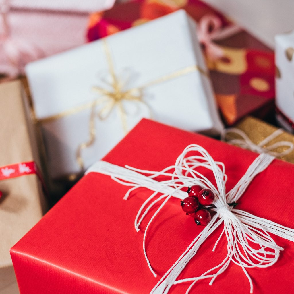 pile of gift exchange presents