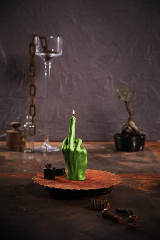 The Middle Finger Candle 3