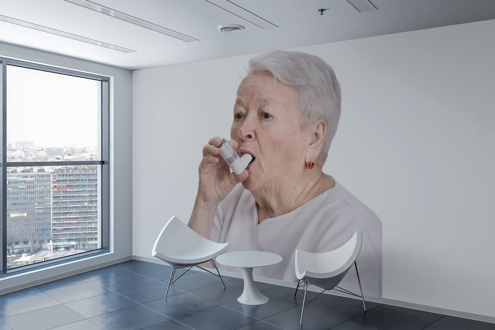 The Old Woman With an Inhaler Wall Sticker 4