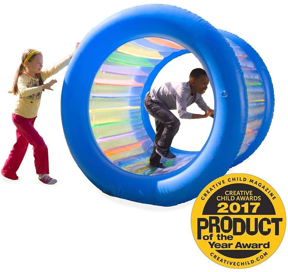 a rolling hamster wheel for people