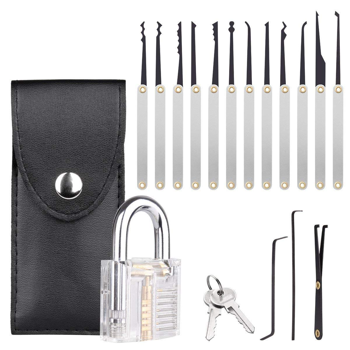 translucent lock pick set