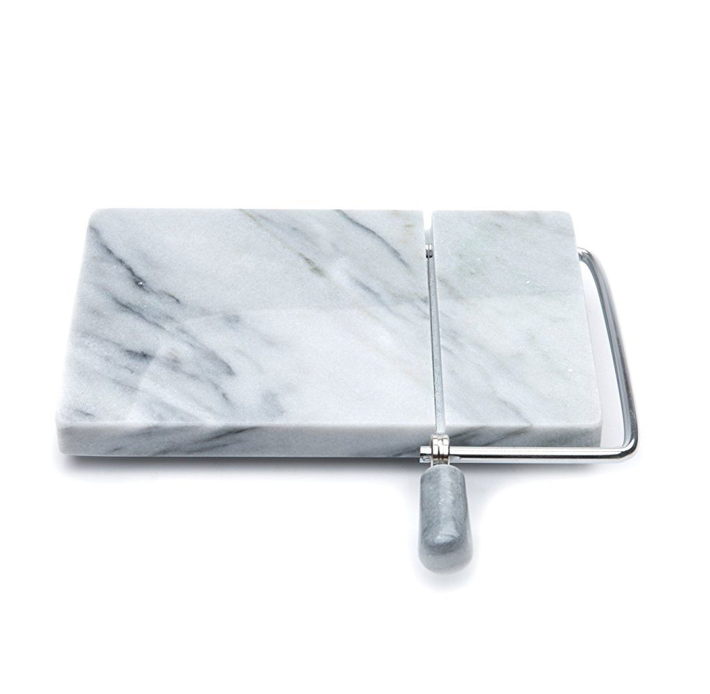 elegant wire and marble cheese slicer