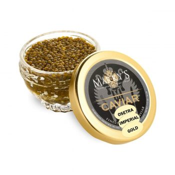 extravagant expensive gold caviar