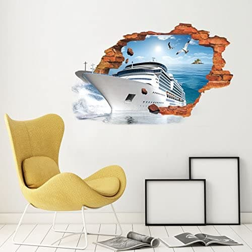 3d wall sticker of a mega yact