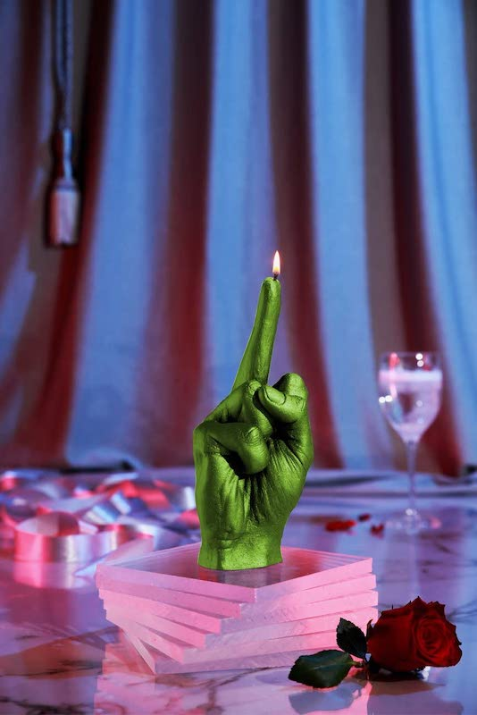 middle finger candle gift