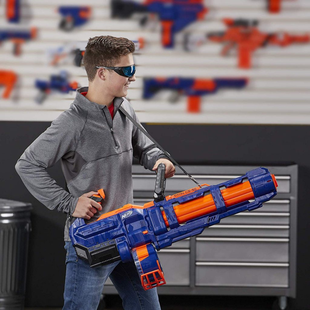 playing nerf with friends