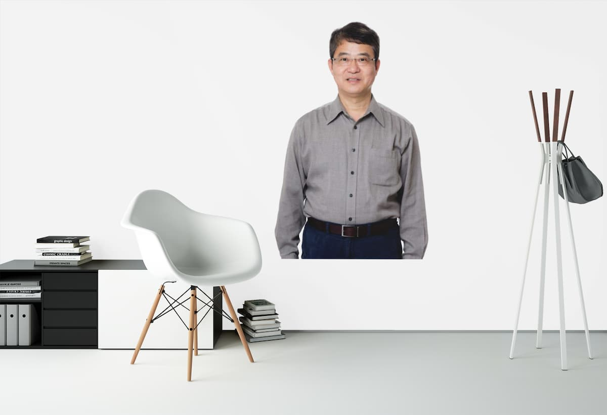 old asian man wall sticker