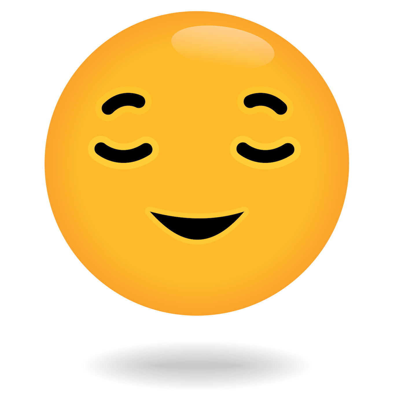 define awesome relaxed emoji