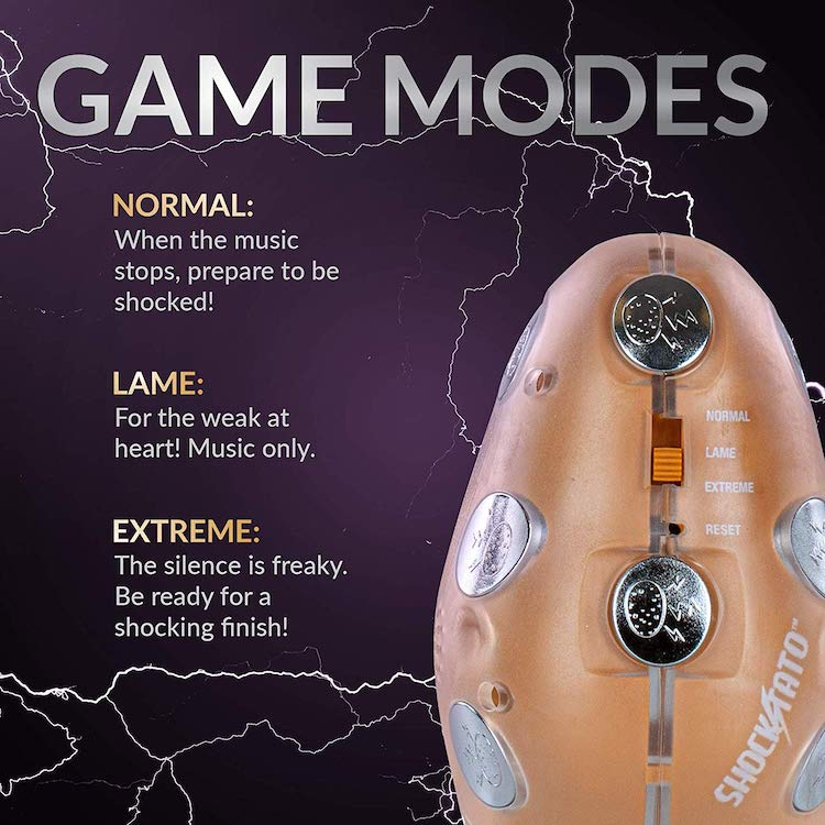shocking hot potato party game details