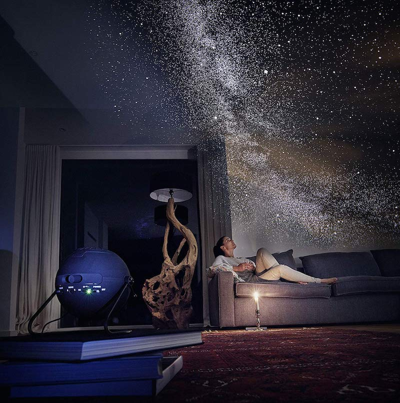 star projector in the bedroom