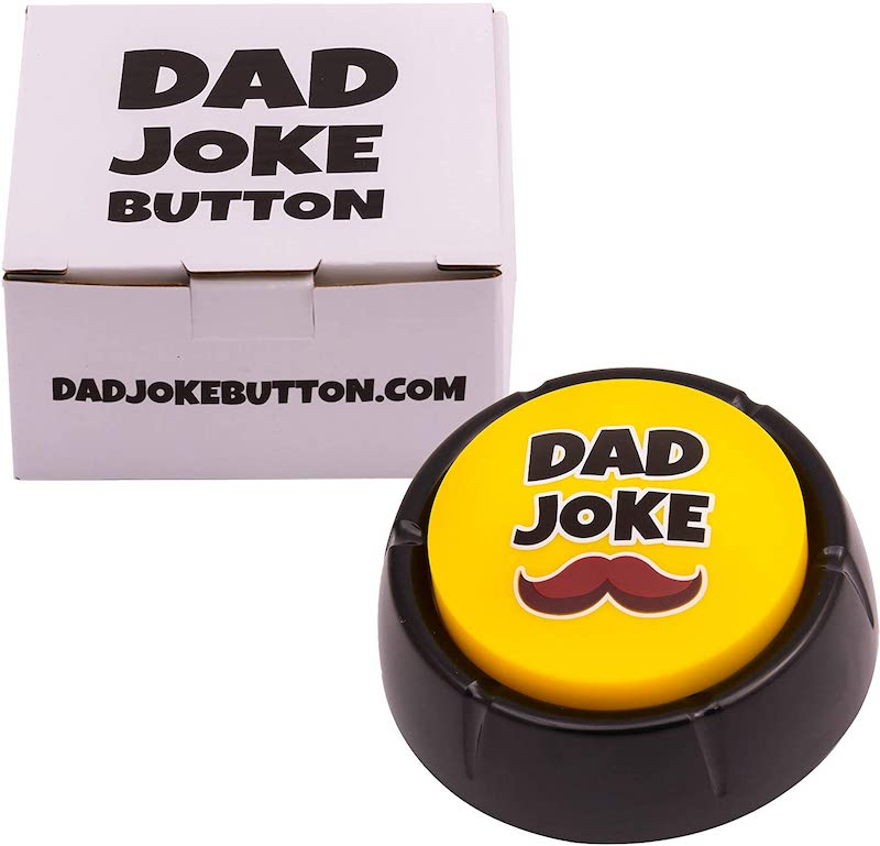 dad joke button with box
