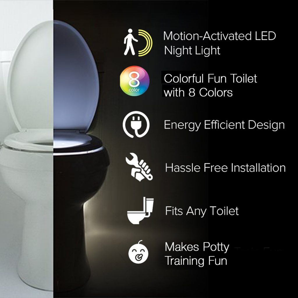 Instructions on how to use a light up toliet