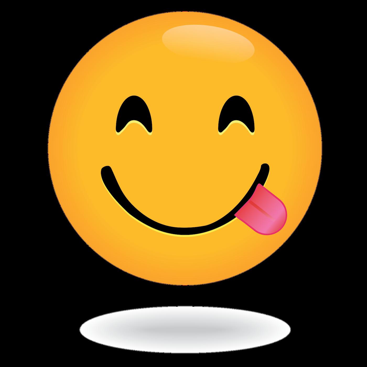 Define Awesome Tongue Emoji Face