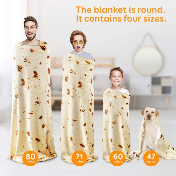 family size tortilla blankets