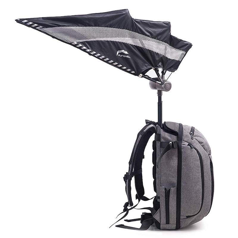 the backpack with a retractable umbrella