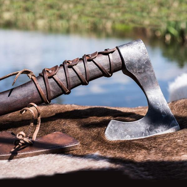 hand-forged authentic viking axe